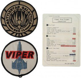 Battlestar Galactica Viper And Galactica Patch Set