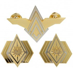 Battlestar Galactica Admiral Pins & Elite Wing Pin