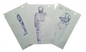 Star Trek: Tng Original Away Suit Concept Artwork Set