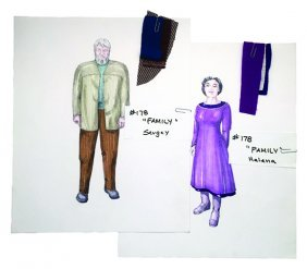 """Star Trek: Tng Original """"family"""" Concept Artwork Set"""