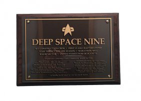 Star Trek: Deep Space Nine Third Season Crew Plaque