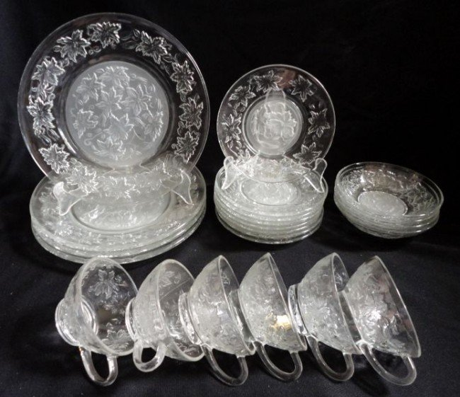 386 princess house fine crystal dinnerware lot 386