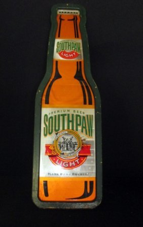 Southpaw Light Beer Sign Lot 12
