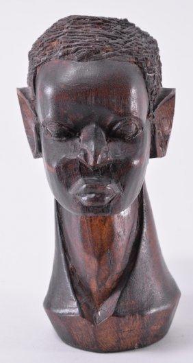 Vintage Hand Carved African Head