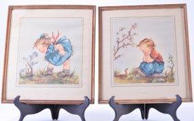Two 1940s Children's Prints By Anne Allaben