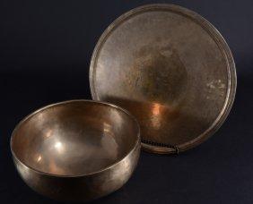 Vintage Brass Bowl & Tray