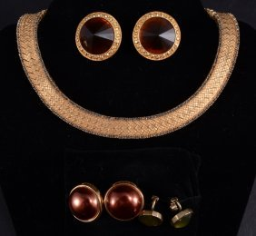 Gold, Amber & Yellow Costume Jewelry