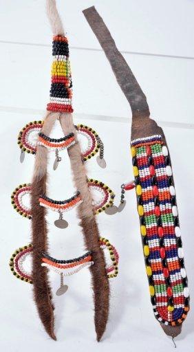 Vintage African Spear Holder & Choker Necklace