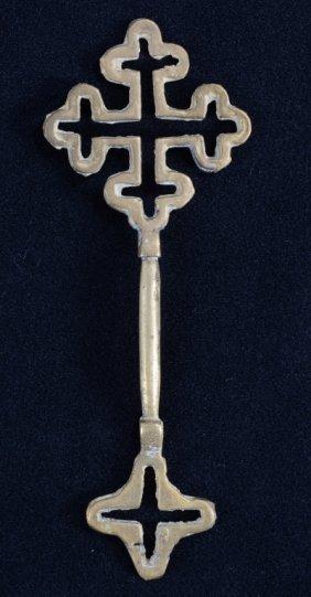 Ethiopian Coptic Brass Hand Cross