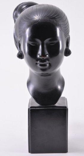 Bangkok Female Metal Head Sculpture