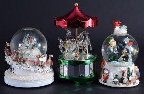 Three Snow Globes