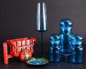 Blue Glass Plus Lot