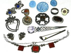 Various Sterling ESTATE Jewelry Lot