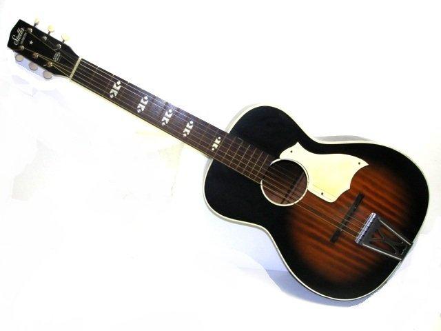 195 vintage stella harmony f 66 acoustic guitar lot 195. Black Bedroom Furniture Sets. Home Design Ideas