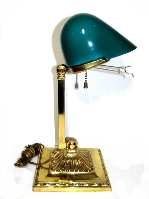 antique emeralite bankers lamp lot 195. Black Bedroom Furniture Sets. Home Design Ideas