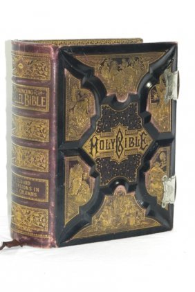 Fabulous Gilded 1892 Pronouncing Parallel Bible Lot 101