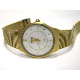 Hamlin Ultra Thin Gold Colored Ion Plated Mesh Watch