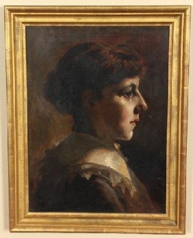 J. Bond Francisco O/C Portrait Of A Girl J. Bond F