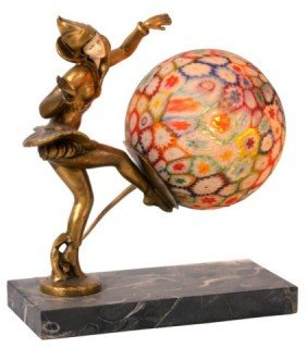 Millefiori Novelty Lamp With French Figure