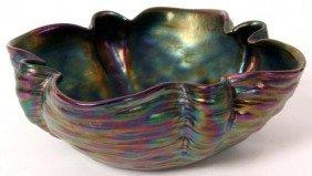 Loetz Wavy Amethyst Art Glass Bowl