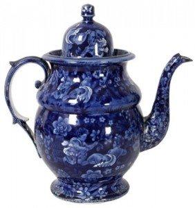 Blue Staffordshire Coffee Pot