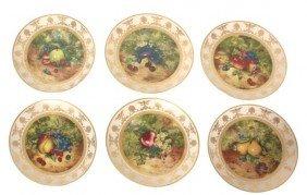Set Of 6 Limoges Porcelain Plates