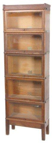 3/4 Size Oak Stacking Bookcase