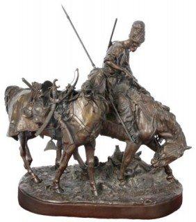 Lanceray Russian Bronze Zaporozhian Plunder