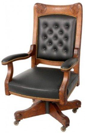 Oak Tilt - Swivel Desk Chair