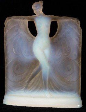 Lalique Style Opalescent Glass Figure