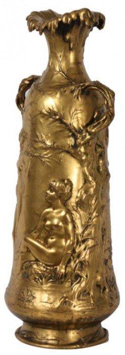 Alexander Vibert Art Nouveau Bronze Urn
