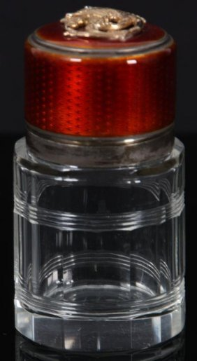 Tiffany Crystal & Guilloche Perfume Bottle