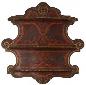 French Style Inlaid Wall Shelf