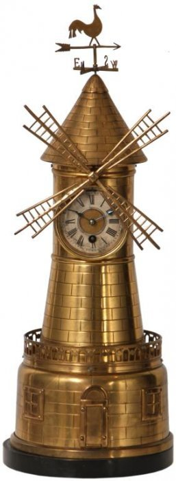 French Industrial Windmill Clock