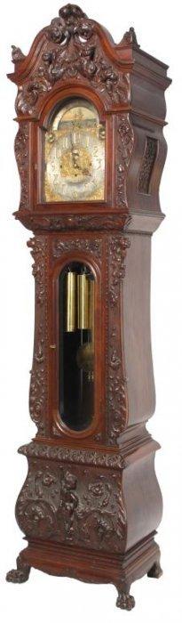 Tiffany Mahogany Grandfather Clock