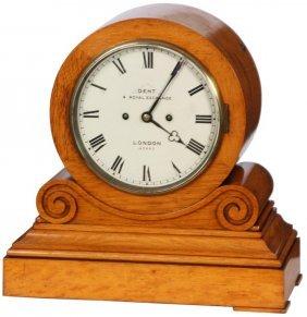 Dent London Oak Mantle Clock