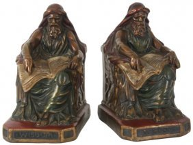 Frogs reading on sofa bookends lot 801p - Armor bronze bookends ...
