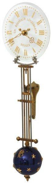 Rare Houdin Glass Dial Mystery Swinger Clock