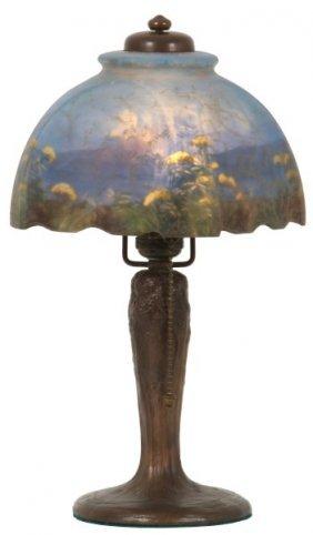 Handel 7 In. Reverse Painted Boudoir Lamp