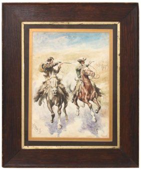 Signed Remington Watercolor