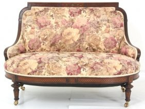 Herter Bros. Inlaid Rosewood Love Seat