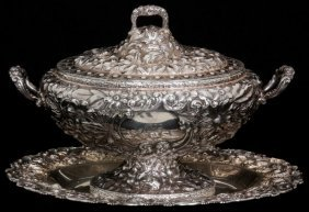 Gorham Sterling Silver Tureen W/ Kirk Tray