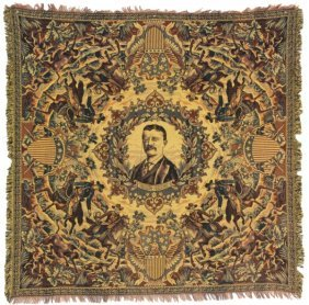 Exceptional Teddy Roosevelt Tapestry Table Cloth