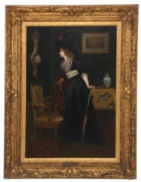 Jules Goupil O/p Portrait Of A Woman