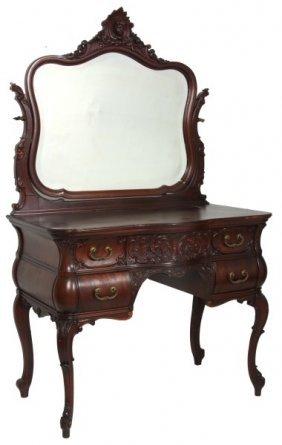 Rj Horner Carved Mahogany Vanity