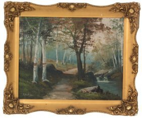 F. Matzow O/c Wooded Scenic Landscape