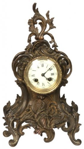 French Brass Mantle Clock