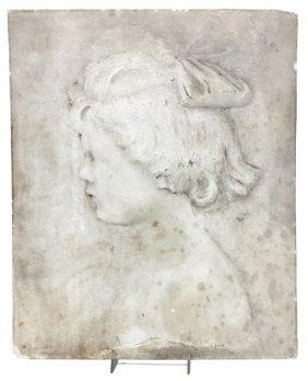 L. V. Serrao Carved Marble Plaque