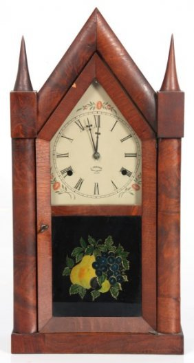 Chauncey Jerome Fusee Steeple Clock