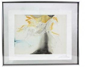 Salvador Dali Embossed Lithograph – Pegasus